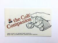 The Colt Companion Manual Booklet Part 94866 2554-X