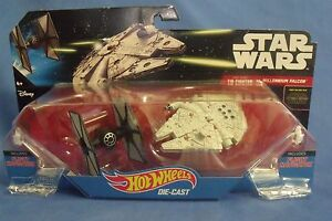 Toys Mattel NIB Hot Wheels Disney Star Wars Tie Fighter vs Millennium Falcon