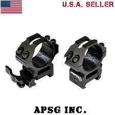 Sniper 30mm Medium Profile Quick Release Rifle Scope Rings For Picatinny Mount
