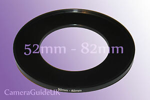 52mm to 82mm 52mm-82mm Stepping Step Up Filter Ring Adapter