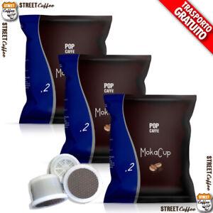 100 CAPSULE CIALDE CAFFE POP Caffè 2 CREMOSO MOKACUP COMPATIBILI DOMO TERMOZETA*