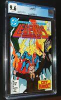 LEGENDS #4 BATMAN SUPERMAN 1987 DC Comics CGC 9.6 NM+ White Pages
