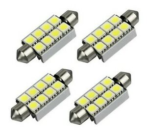 4x Ampoules LED 42mm Canbus Blanc Veilleuses 6000k Lampes Navettes 8 SMD Auto