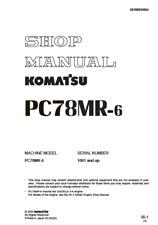 Komatsu Excavator PC78MR-6 Shop, Service, Repair Manual