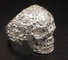 Mens Skull Ring Size 11 Sterling Silver Nt Scrap 925 FREE SIZING Gothic NEW !!