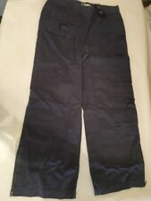 New blue grey crop 100% cotton trousers Size 14