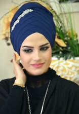 DPND44 Draperie Chiffon Fertig Kopftuch BandanaHazir Türban Sal Tesettür Hijab