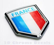 France Flag Emblem Chrome Car French Decal Sticker