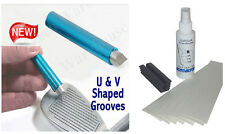 Golf Club Groove Sharpener + Grip Kit 18 Brampton Tape Strips-Solvent-Vise Clamp