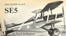 """Model Airplane Plans (RC): SE-5 1/10 Scale 32"""" WW-I Biplane Fighter"""