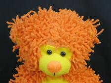 BIG ORANGE DREADLOCKS DAVE AND BUSTERS D&B PLUSH BEAR PRIZE STUFFED ANIMAL SOFT