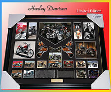 NEW!! LARGE FRAME OF HARLEY DAVIDSON MEMORABILIA LIMITED EDITION TO 499 W/ C.O.A