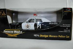 1:18 Ertl - 1974 Dodge Monaco Police Car Lmtd Edition- Rarity #39316