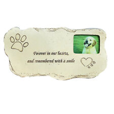 Pet Tombstone Dog Cat Memorial Stone Grave Marker Headstone with Photo Frame