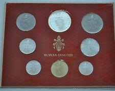 1970 vatican Paul VI (VIII année) Coin Set-UNC