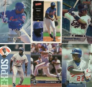 RONDELL WHITE Lot of 34 Different Premium MLB Baseball Cards Montreal Expos