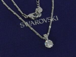 SWAROVSKI Solitaire Pendant, White, Rhodium plated 1800045
