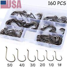 160PCS Offset Sport Circle Hooks Strong Customized Circle Fishing Hooks #1-5/0
