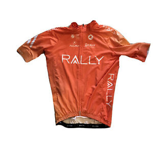 Men's 2020 Pactimo Rally Pro Cycling Team SS Jersey, Orange, Size XS EUC