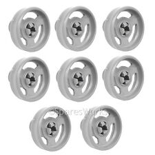 8 x Genuine Indesit Lower IDL40 Basket Rack Wheel Dishwasher Wheels Spare Part