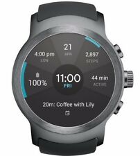 LG Watch Sport W280A GSM Unlocked 4G LTE Water Resistant 45.4mm Titan Silver
