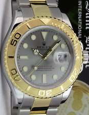 ROLEX 40mm 18kt Gold & Stainless Steel Yachtmaster Slate Dial 16623 SANT BLANC
