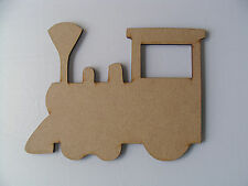 5 x Wooden MDF Train Locomotive Transport blank plaques craft shapes signs