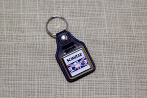 Reliant Scimitar SS1 Keyring - Leatherette & Chrome Keyfob