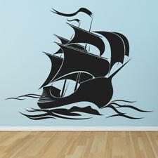 Piratenschip Piraten vlag Muursticker WS-16126