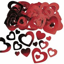 Red Heart Table Confetti Wedding Valentine's Anniversary Party Decor Decoration