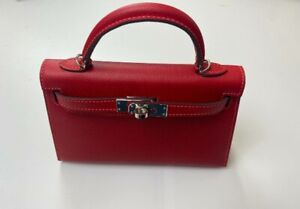 HANDMADE LEATHER BAG RED