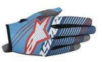 Alpinestars Radar Tracker Motocross Gloves Cyan White Blue New