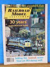 Railroad Model Craftsman Magazine 1984 September Build new NS Piggyback flats Am