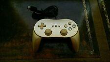 Golden Nintendo Wii Classic Controller Pro
