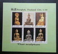 Gambia Thai Buddha Sculpture 1993 Statues Religion (ms) MNH *Thailand '93 Expo
