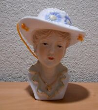 Lady Head Vase Has Holes in Hat for Hanging