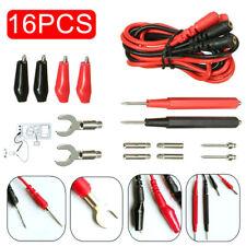 16pcs Digital Multimeter Test Lead Kits Probe Volt Meter Cable Clip Alligator Us
