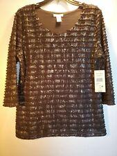Laura Ashley Womens Jewel Simplicity Formal Pullover Top Size M NWT