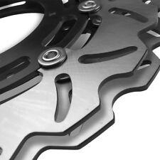 Black Stainless Wave Brake Discs PAIR Kawasaki ZZR600 ZZR 600 91 92 93 94 95 96