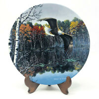 America's Pride Tranquil Waters American Bald Eagle Collector's Plate With Stand