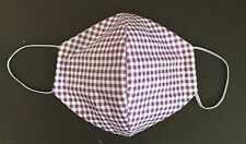 Handmade face mask 100 % cotton washable - Purple Check