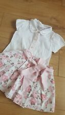 Spanish Pretty Originals Girls Blouse And Skirt Pink Roses Sets Age 4 Years