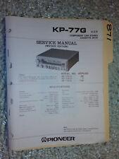Pioneer kp-77g service manual original repair book stereo car radio tape deck