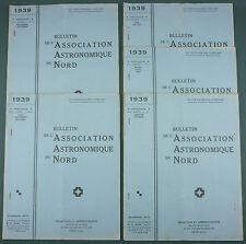 BULLETIN ASSOCIATION ASTRONOMIQUE DU NORD - 1939 COMPLET - ASTRONOMIE LILLE RARE
