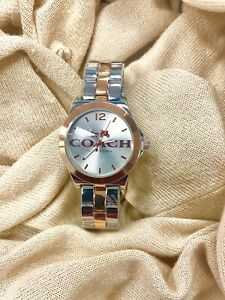 NEW COACH WOMEN'S WATCH ROSE GOLD AND SILVER
