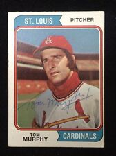 TOM MURPHY 1974 TOPPS Autographed Signed AUTO Baseball Card 496 CARDINALS ANGELS