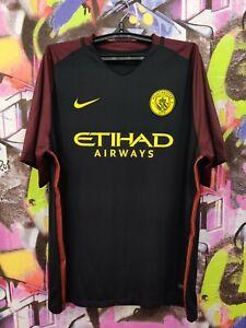 Manchester City FC 2016 2017 Away Football Shirt Soccer Jersey Top Nike Mens XXL