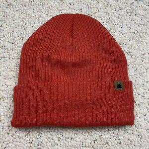 George Unisex Beanie Hat One Size Orange Tight Knit Stretch Fleece Lined New