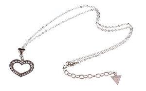 Guess Damen Schmuck Halskette Herz Silber Strass new  Sonderpreis !