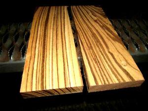 "TEN (10) PIECES KILN DRIED SANDED ZEBRAWOOD LUMBER WOOD BLANKS 12"" X 3"" X 1/4"""